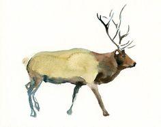 ELK-ACEO print-Children's Decor-Art for Children-kids wall art-Nursery art -Animal lover