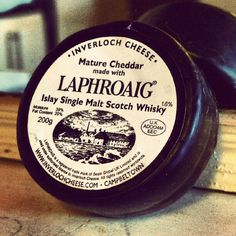 Scotland Islay visiting Laphroaig FOL Mature Cheddar made with Laphroaig Islay Single Malt Scotch Whisky, September 2010