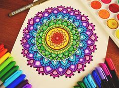 WEBSTA @ floral.art - ❤️Closer look at my colourful mandalaHope you guys are having an awesome day! #mandala#colourful#zentangle