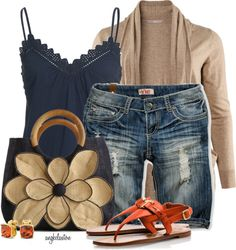 """Spring Essential: Great pair of denim Bermuda shorts"" by angkclaxton on Polyvore"
