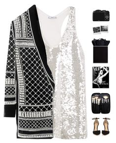 2017 is coming!  by genesis129 on Polyvore featuring MANGO, Gianvito Rossi, Morphe, CO, Balmain and vintage