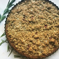 weather is making me crave my Blackberry & Rosemary Crumble Pie.