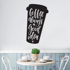 Stickers Cuisine Coffee is always a good idea - Optimistick