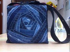 Купить джинсовая сумка - комбинированный, абстрактный, сумка, джинсовая сумка…