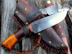 Hand forged knives, hatchets and tomahawks. Nice!