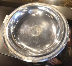 Silver Bowl with Mother of Pearl accents www.lifestylescomo.com