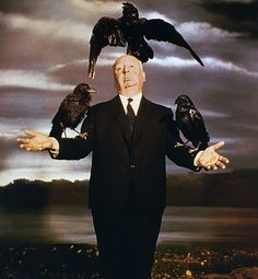 The Birds - Promo shot of Alfred Hitchcock Alfred Hitchcock Quotes, Alfred Hitchcock The Birds, Indie Movies, Old Movies, Vintage Movies, Classic Monster Movies, Classic Movies, Entertainment Weekly, Science Fiction