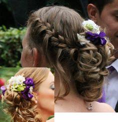 Mijn prachtige bruidskapsel met vlecht en verse bloemen! Hair, bride