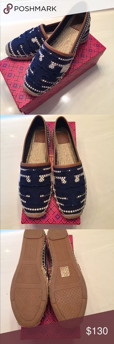 New Tory Burch Shaw Espadrille Shoe Sz 8 Brand New in Box!! These are a must have pair of comfy Canvas shoes. Tory Burch Shoes Flats & Loafers