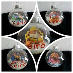 paw patrol ornaments personalized ornament by kikiskornersc