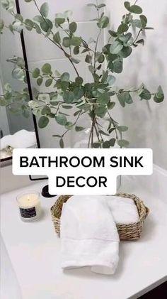 Bathroom Sink Decor, Bathroom Interior Design, Bathroom Staging, Bathroom Sink Organization, Makeup Storage Organization, Bathroom Fixtures, Interior Ideas, Bathrooms, Best Decor