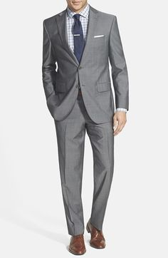 David Donahue 'Ryan' Classic Fit Wool Suit available at #Nordstrom