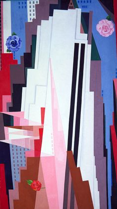 Manhattan by Georgia O'Keeffe. Something a little different from Georgia. One of my favorites.