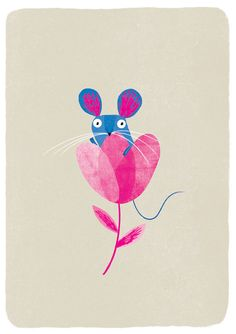 Little Blue Mouse A4 giclée print