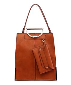 Loving this MKF Collection Cognac Brown Jenna Tote on #zulily! #zulilyfinds