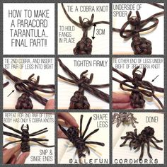 Paracord tarantula (Spider).  This would make a fun geocache  if you attached it to a container.