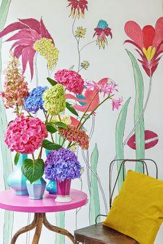Hydrangea Colors, Colorful Flowers, Seasons, Flooring, Heart, Seasons Of The Year, Wood Flooring, Hearts, Floor