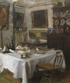 ◇ Artful Interiors ◇ paintings of beautiful rooms -  John Singer Sargent