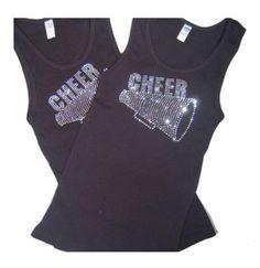 Cheer Super Bling ladies skinny fit bling  by BlingIsTheNewBlack, $29.00