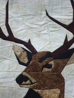 Buck Deer Quilted Wallhanging by Jackiesewingstudio on Etsy