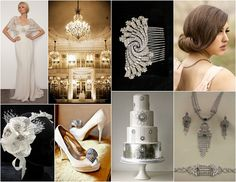 Roaring 20s Art Deco Wedding Inspiration by Bridal Styles Boutique, via Flickr