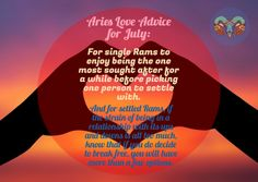 Aries Lovescope Sneak Preview for the Month of July