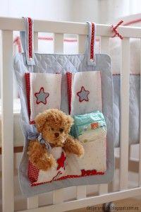 Tutorial patchwork organizador de tela con bolsillos recien nacido