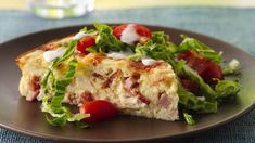 Impossibly Easy Chicken Club Pie