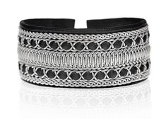 Wide tin thread (sami) bracelet from Nordig Jewelry Design | tenntrådsarmband