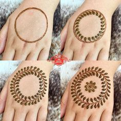 Henna Design Step by Step Images Gallery - Latest Easy Henna Tattoo Designs Step by Step for beginner. this is the best henna design that easy to draw Henna Hand Designs, Henna Tattoo Designs, Mehndi Designs Finger, Basic Mehndi Designs, Simple Henna Tattoo, Beginner Henna Designs, Tattoo Henna, Beautiful Henna Designs, Mandala Tattoo