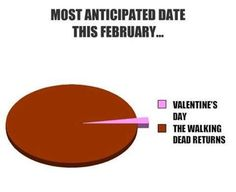 Screw Valentines day! Let's have some zombies #TheWalkingDead