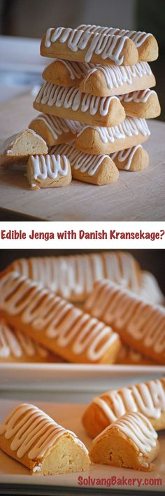 Traditional Danish Kransekage - a delicious marzipan dessert...also perfect for a game of edible Jenga. Learn more in our blog post! #PlayWithYourFood