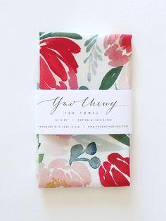 Spring Flora Tea Towel