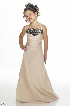 Style #25: Matches bridesmaids style 2940. Matte satin strapless bridesmaids gown with criss-cross bodice and lace overlay on the bust. Available sizes: 4, 5, 6-16; Variety of Colors Available
