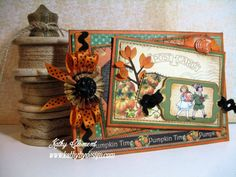 "Kathy Clement ""Pumpkin Time"" Graphic 45 Card #graphic45"