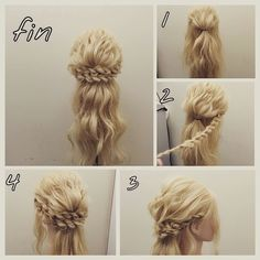 Princess Braided Updo Hair Tutorial ~ Entertainment News, Photos Videos - Calgary, Edmonton, Toronto, Canada click now for more info. Braided Hairstyles Updo, Braided Updo, Up Hairstyles, Pretty Hairstyles, Wedding Hairstyles, Wedding Updo, Easy Updo, Braided Crown, Bohemian Hairstyles