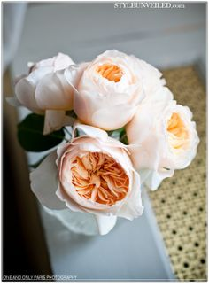 Cabbage roses are it! Almost Identical to peonies, and with a September wedding these are the perfect switch