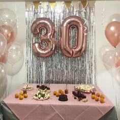 Image may contain: indoor and food 30th Birthday Decorations, 30th Birthday Parties, Ideas Decoracion Cumpleaños, Birthday Pictures, Birthday Balloons, Invitation, Instagram, Food, Pink Party Decorations