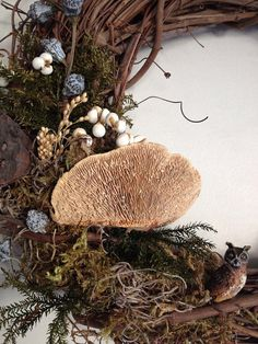 Forest Infusion grapevine wreath by twigstwineandthyme on Etsy, $36.00