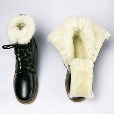 Natural Wool Winter Boots men Warmest Cow Leather winter shoes men - New Ideas Ll Bean Winter Boots, Stylish Winter Boots, Tall Winter Boots, Mens Snow Boots, Warm Snow Boots, Spring Boots, Mens Winter Boots, Winter Shoes, Red Ankle Boots