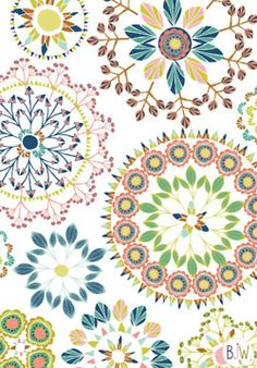 geo sprig circles pattern  copyright © Bethan Janine Westran 2012