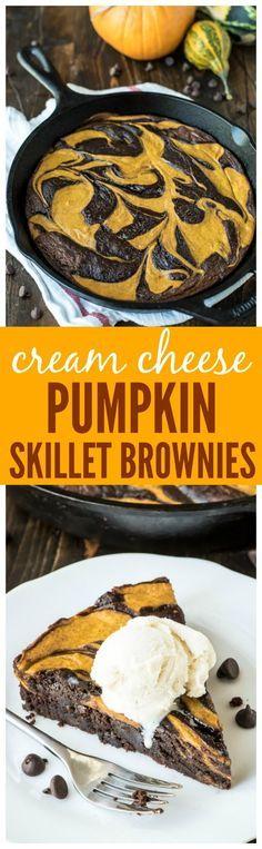 Best Ever Pumpkin Brownies. Pumpkin cheesecake swirled with a fudgy brownie to make the best ever pumpkin dessert recipe!