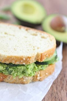 Edamame Avocado Salad Sandwich by twopeasandtheirpod: Easy, healthy and tasty with garlic, green onions, cilantro. rice vinegar, lime juice, garlic chile and wasabi pastes!  We ate these in a low carb wrap with sprouts. Is also good on wasa crackers! :)