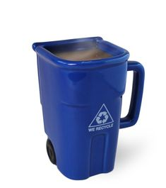 Full Size of Storage, Magnificent garbage can blue ceramic unique coffee mug attractive and innovative ...