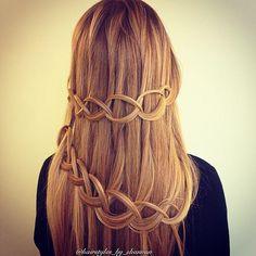 loop waterfall braid- just tie a loose knot & spray!