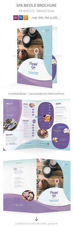 Spa Bifold / Halffold Brochure Template PSD, Vector EPS, InDesign INDD, AI Illustrator