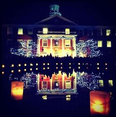 Elon University Christmas Lighting 11/29/12 - luckiest girl in the world to call this place home.
