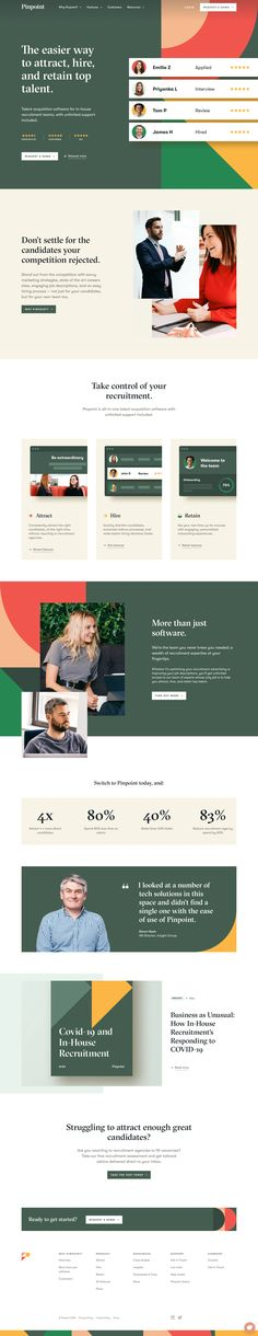 Web Layout, Layout Design, Recruitment Software, Advertising Tools, Ui Ux Design, Graphic Design, Ui Web, Interactive Design, Web Design Inspiration