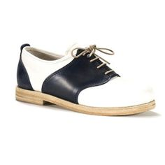 Saddle Shoe Dark Blue And White, $337, now featured on Fab.