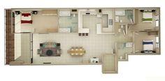 15-grandes-3-dormitorio del piso planes para la casa